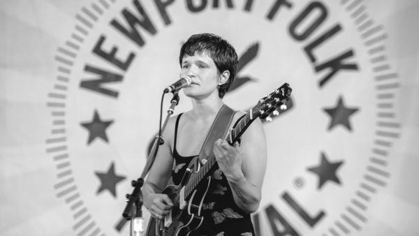 Adrianne Lenker of Big Thief performs at the 2017 Newport Folk Festival.