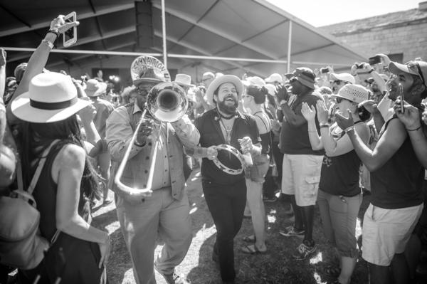 Nathaniel Rateliff and Preservation Hall Jazz Band.