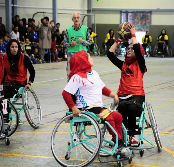 Afghan women compete at home, in a 2016 tournament in Kabul, before the national team takes on international competition.