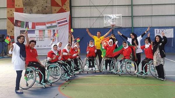 On Sunday, Afghanistan's national women's wheelchair basketball team won its first championship at the 4th annual Bali Cup International Tournament in Indonesia.