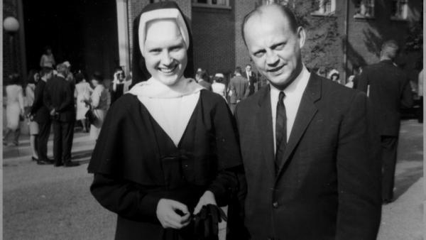 Sister Catherine Cesnik with her father Joseph Cesnik. (Courtesy of Netflix)