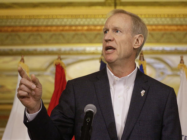 Illinois Gov. Bruce Rauner pictured in 2016. Rauner has vetoed a school funding bill days before state payments to public schools were set to start.