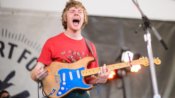 Pinegrove performs at the 2017 Newport Folk Festival.