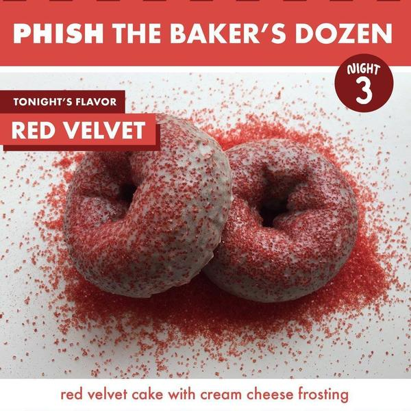 Federal Donuts' Red Velvet Donut - for night 3 of Phish The Baker's Dozen.