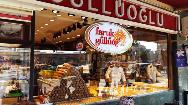 A popular Turkish baklava shop, Faruk Güllüoğlu, is one of nearly 1,000 companies expropriated by the Turkish government since last year's failed coup. The company is now run by a government trustee.