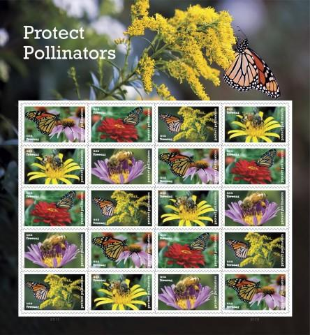 <p>The U.S. Postal Service is releasing its new Protect Pollinators Forever stamps this week. ©2017 USPS</p>