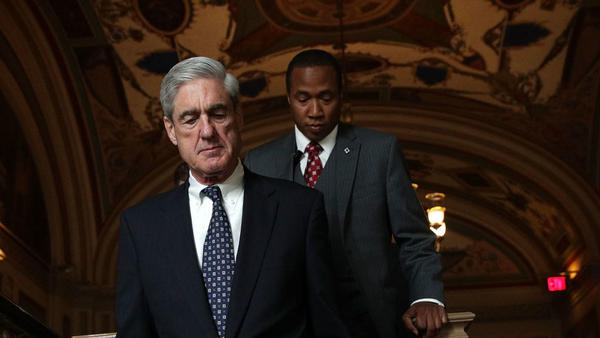 Special counsel Robert Mueller arrives at the U.S. Capitol for a closed meeting with members of the Senate Judiciary Committee in June.