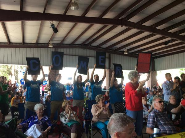 Support for Congressman James Comer in the crowd