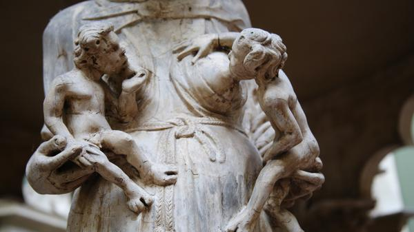 A pulpit for Pisa Cathedral by Italian sculptor Giovanni Pisano, showing a woman breastfeeding, was on display at the Victoria and Albert Museum in London in October 2016. This weekend, a breastfeeding museum visitor says she was told to cover up, which the museum says violates its own policies.