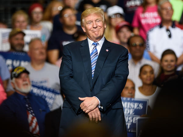 Speaking to a crowd in Huntington, W.Va., on Thursday, President Trump said the U.S. economy is on its way back.