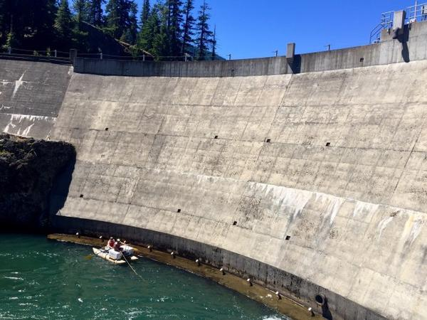 <p>Biologists used a cataraft and a tangle net to catch bull trout at the base of Clear Creek Dam. They're trying to help the fish around the dam so that they can get to better habitat.</p>