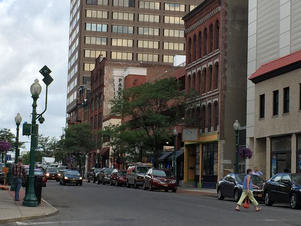 South Clinton Street in downtown Syracuse.