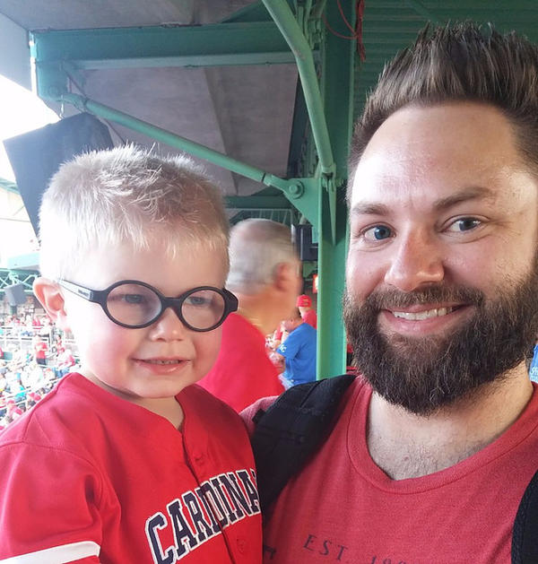 Parker Atchley with his Dad, Tyler Atchley