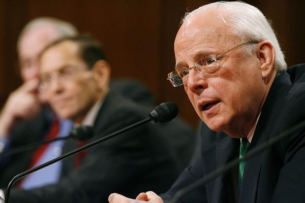 John Dean, shown testifying before the Senate Judiciary Committee in 2006, served as White House counsel to former President Richard Nixon. Dean says he sees echoes of the Watergate scandal in the Trump administration and its handling of the Russia investigation.