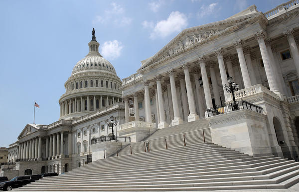The Senate side of the Capitol building is shown on the last day of the summer session on Aug. 3. The Senate is scheduled to return from summer break on Sept. 5.