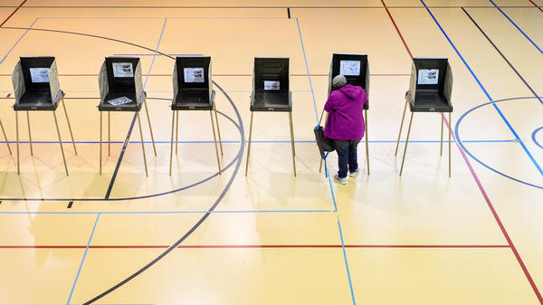 A woman votes on Nov. 8 in Durham, N.C. The state was a key battleground in a presidential race where Russian interference was already a huge concern.
