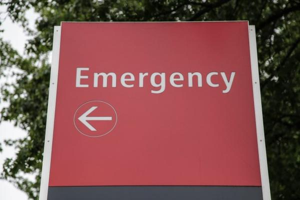 <p>An emergency room sign.</p>