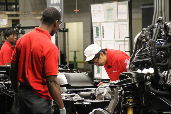 Nissan's Canton plant builds primarily larger vehicles, including the Titan full-size pickup truck. The plant is also unique for Nissan because African Americans make up an estimated 80 percent of the hourly workforce.