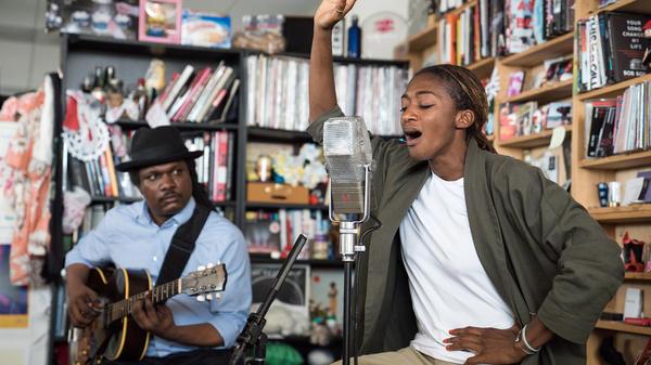 ALA.NI performs a Tiny Desk Concert on June 20, 2017. (Photo: Liam James Doyle/NPR)