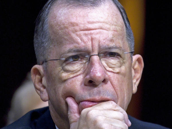 Then-Joint Chiefs Chairman Adm. Michael Mullen testifies on Capitol Hill in Washington, in 2011. Mullen, who retired six years ago, has expressed concern about escalating tensions with North Korea.