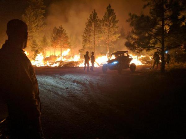 Verde Creek night firing operation on the Sunrise fire.