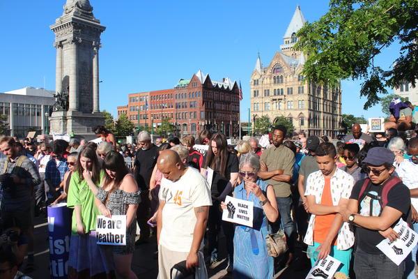 Black Lives Matter vigil in downtown Syracuse.