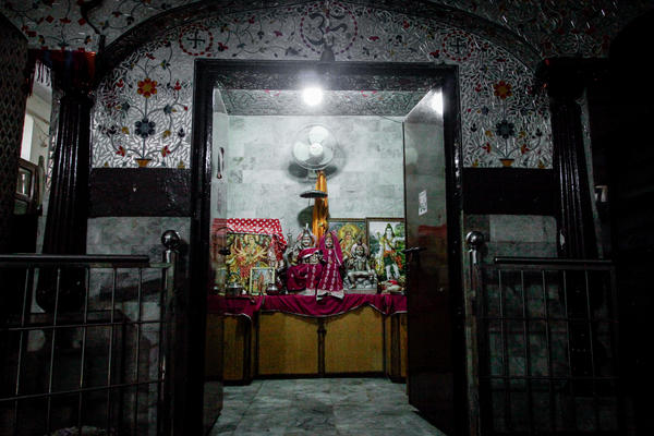 A Hindu shrine in Lahore was rebuilt after it was burned down more than a decade ago during a period of communal tensions. Now it's guarded by two state employees. A handful of worshipers come on Tuesdays.