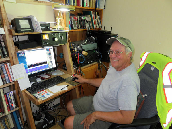Amateur radio hobbyist Bruce Montgomery long ago made plans to travel to Prineville, Oregon, for the solar eclipse from his ''radio shack'' at home near Tenino, Washington, seen here.
