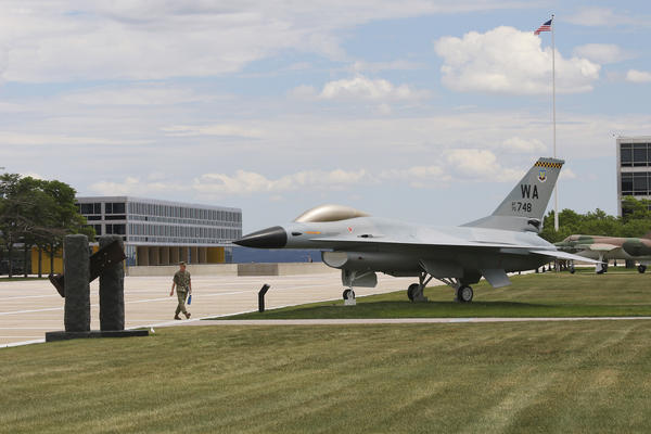 The pristine campus of the U.S. Air Force Academy just north of Colorado Springs, Colo.