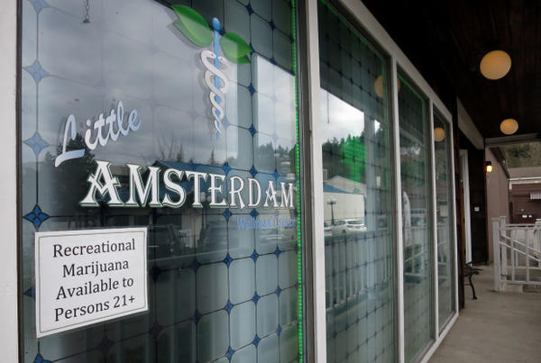 <p>A budtender at the Little Amsterdam marijuana store in Portland, say sales are doubling in advance of the Aug. 21 total eclipse.</p>