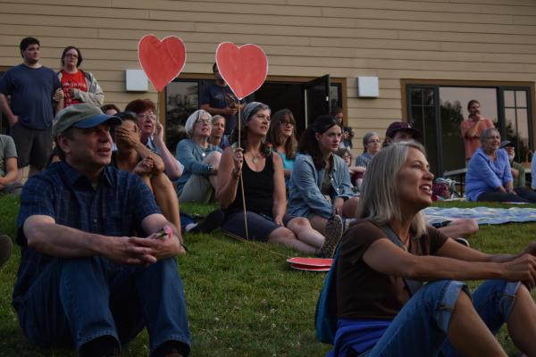 Whitefish's community vigil for victims of the Charlottesville, VA, protests drew a large crowd for speeches, prayers and singing.