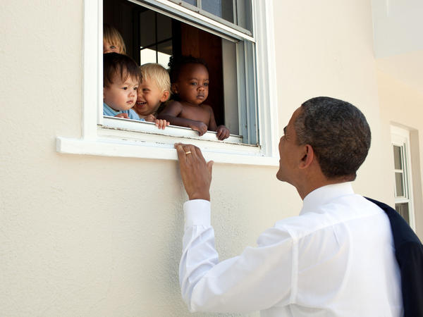 Former President Barack Obama's tweet after the violence Charlottesville, Va., is now the most-liked tweet ever. The tweet quoted Nelson Mandela and included this photo of Obama visiting a daycare in Maryland.