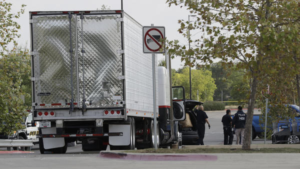 The unventilated tractor-trailer loaded with people was found at a Wal-Mart parking lot in San Antonio in July.