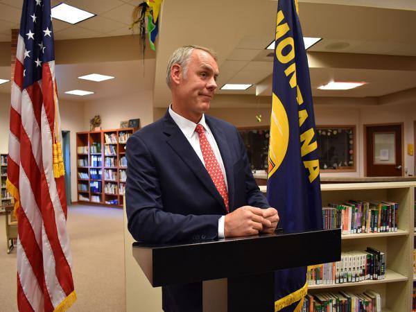 Interior Secretary Ryan Zinke.