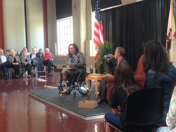 U.S. Sen. Tammy Duckworth, D-Ill., also held a town hall meeting at Illinois Wesleyan University in Bloomington earlier this year.