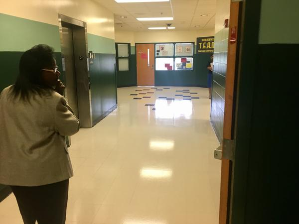 Duval Superintendent Patricia Willis tours Northwestern Middle School on Monday, the first day of the school year,