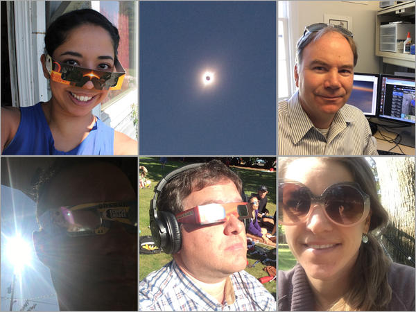 Esmy Jimenez, Tom Banse, Kevin Mooney, Chris Lehman and Emily Schwing check in from where they watched the solar eclipse.