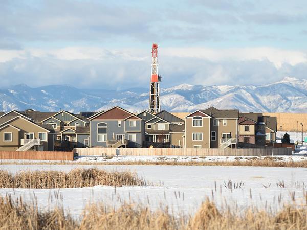Oil and gas operations near a subdivision in Firestone, Colo.