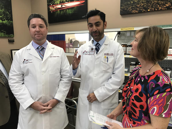 U.S. Rep. Kathy Castor talks with local pharmacists and medical professionals about bipartisan ways to help prevent unjustifable rising drug costs.