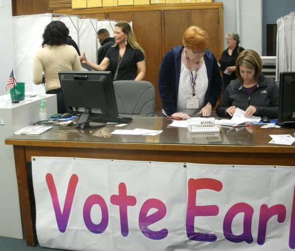 One of Rock Island County's early voting sites is located in the clerk's office in the county administration building. (file)