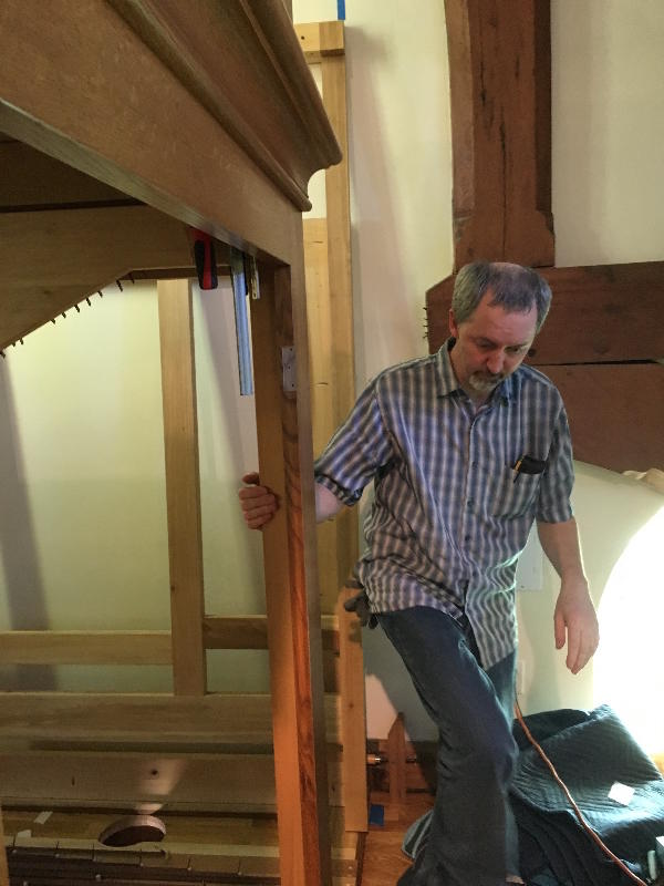 Master Organ Builder Patrick Spiesser.