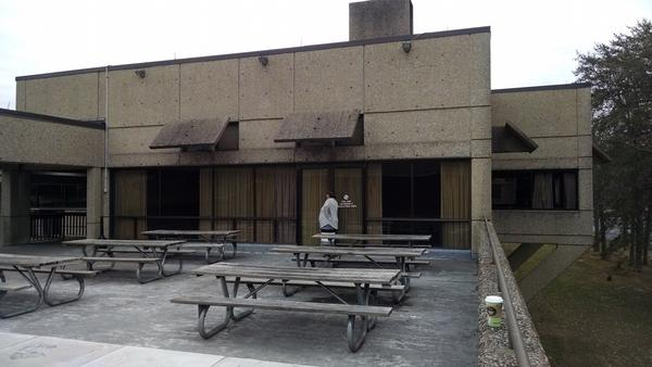 The Inn at Fall Creek Falls was built in an architectural style known as Brutalism popular from the 1950s to the early 1970s.