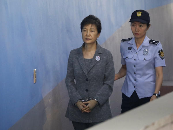 Former South Korean President Park Geun-hye, arriving for her own trial at the Seoul Central District Court on Friday, faces charges of bribery and abuse of power.