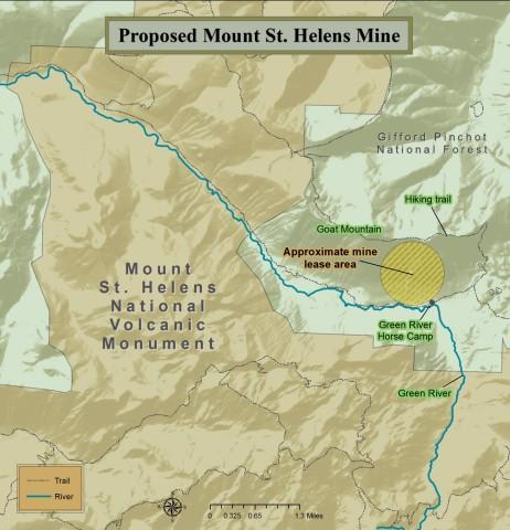 <p>A map of the proposed area shows the site where Ascot Resources Ltd would like to begin test drilling for minerals like copper and gold.</p>