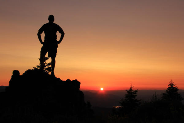 <p>A hiker on Soda Mountain in the Cascade-Siskiyou National Monument.</p>
