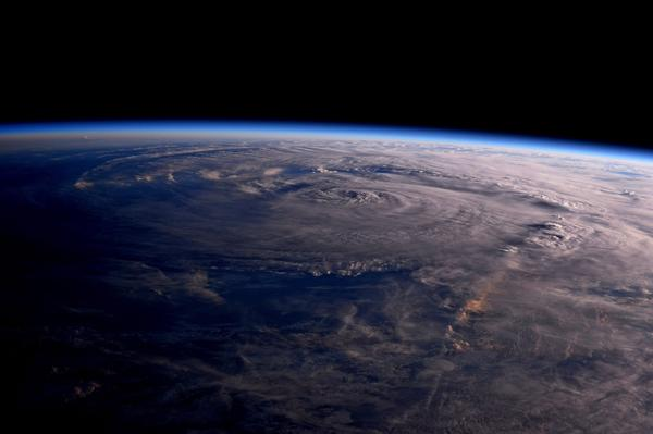 The view of Hurricane Harvey from the International Space Station on Saturday, August 26, 2017.