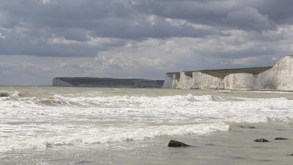 Birling Gap beach in southern England, as seen in 2015.