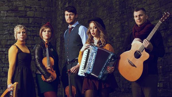 Indie trad band Calan, whose music is featured in this week's show.