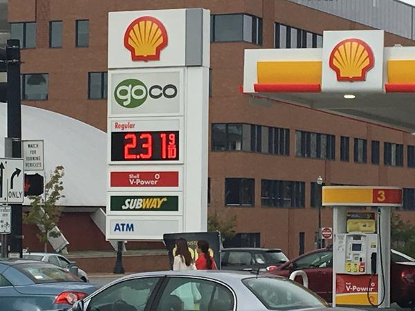 Gas station in Columbus, Ohio