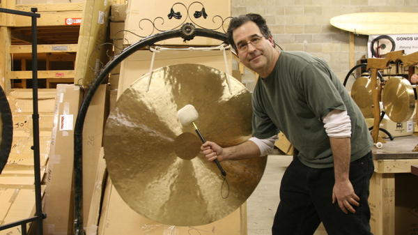Comedy writer Andrew Borakove left California for Lincoln, Neb., to sell gongs.